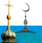 Kirchturm und Moscheekuppel